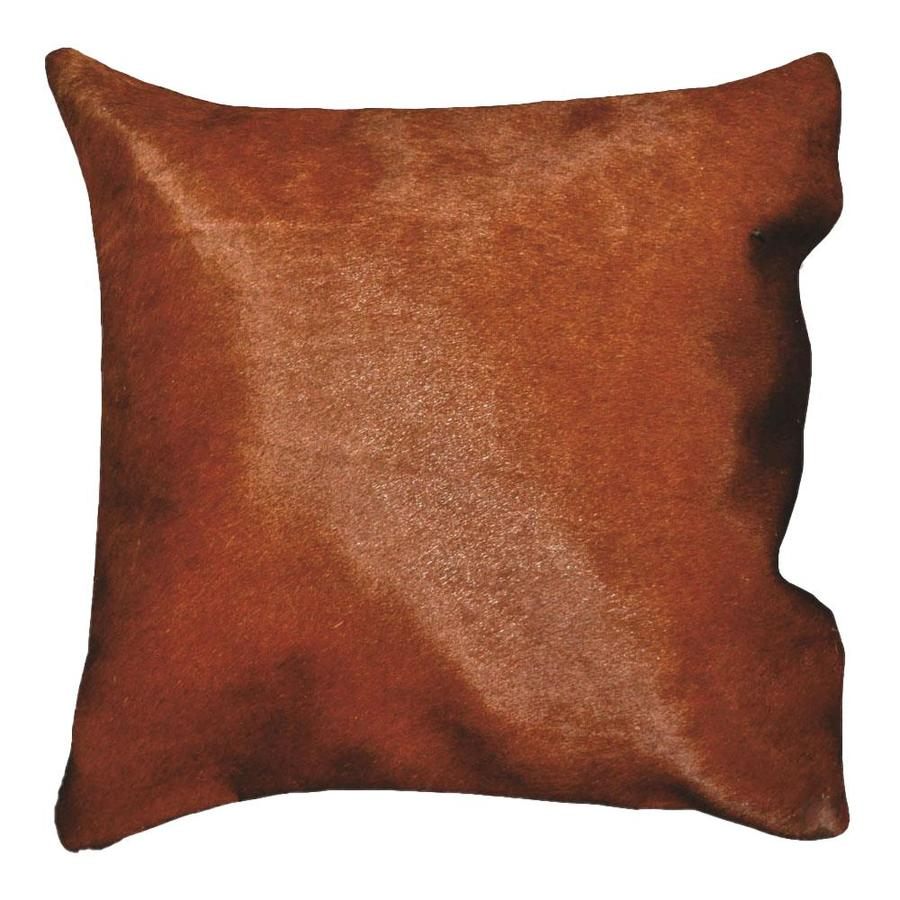 Deerlux 16 In W X 16 In L Brown Brazilian Genuine Natural Leather Square Indoor Decorative Cover In The Throw Pillows Department At Lowes Com