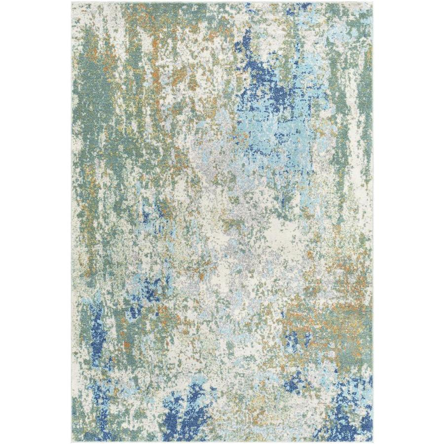 Surya Bodrum 8 X 10 Dark Green Indoor Abstract Mid Century Modern Area Rug In The Rugs Department At Lowes Com