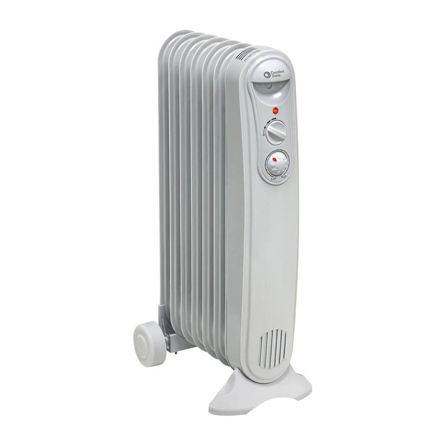 Comfort Zone 1200 Watt Oil Filled Radiant Tower Indoor Electric Space Heater With Thermostat In The Electric Space Heaters Department At Lowes Com