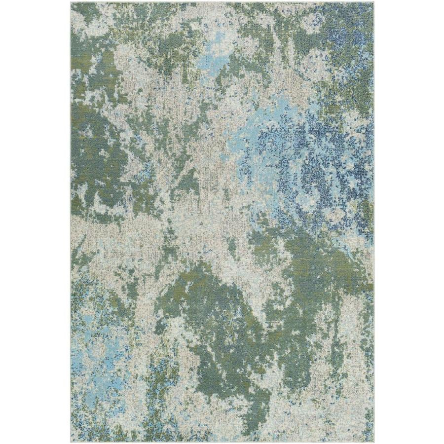 Surya Bodrum 9 X 12 Dark Green Indoor Abstract Mid Century Modern Area Rug In The Rugs Department At Lowes Com