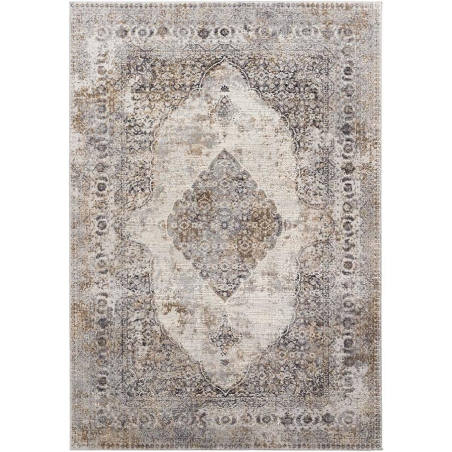 Surya Mood 8 X 10 Taupe Medallion Global Area Rug In The Rugs Department At Lowes Com