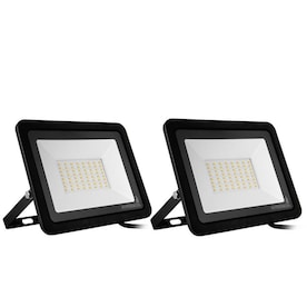 Sansi 50 Watt Black Rgb Color Changing Outdoor Integrated Led Flood Light With Remote Control In The Spot Flood Lights Department At Lowes Com
