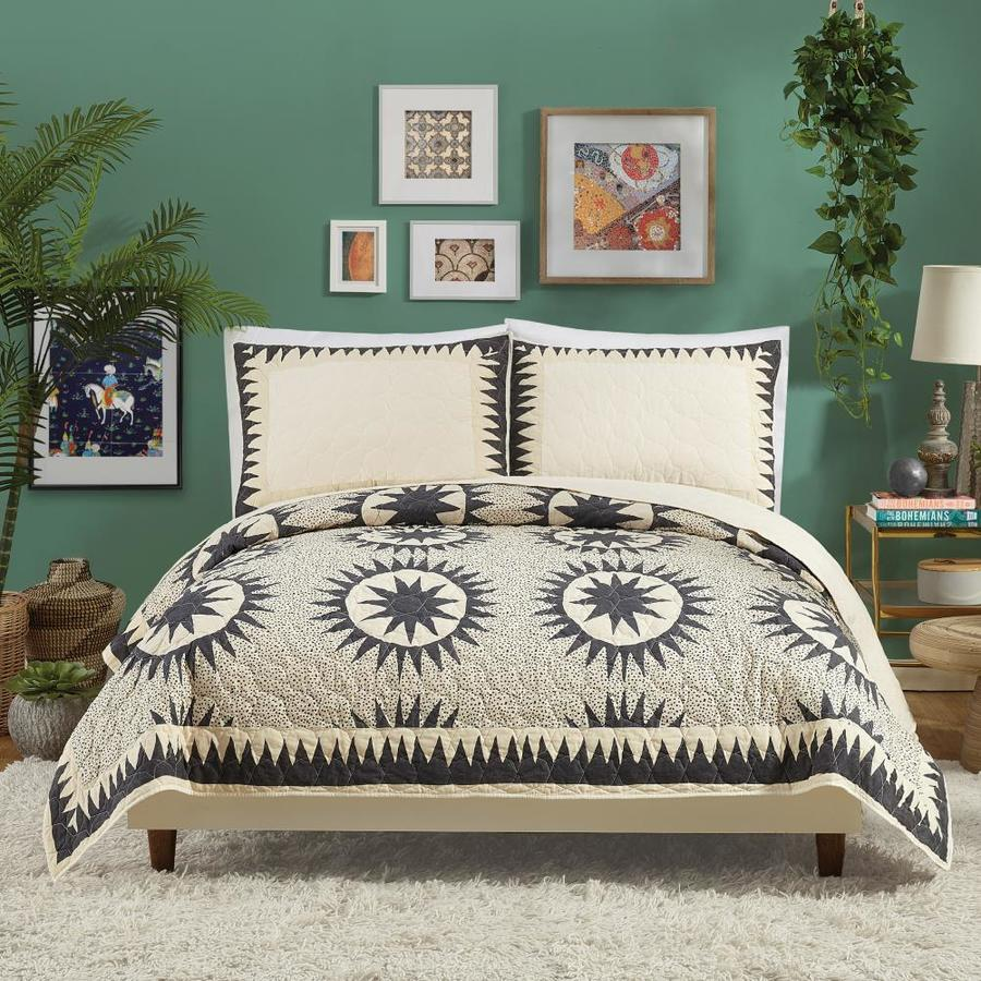 Makers Collective Soleil 3 Piece Multiple Colors Finishes King Quilt Set In The Bedding Sets Department At Lowes Com