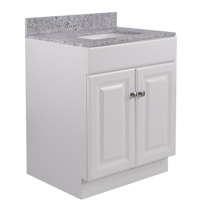 Design House Wyndham 24 In White Undermount Single Sink Bathroom Vanity With Golden Sand Granite Top In The Bathroom Vanities With Tops Department At Lowes Com
