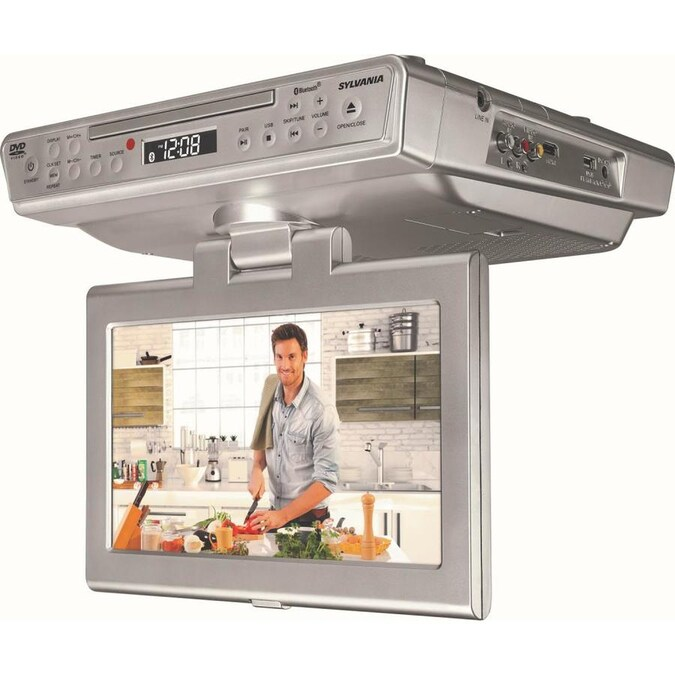 SYLVANIA 10-in Under-Counter Kitchen TV with CD/DVD Player ...