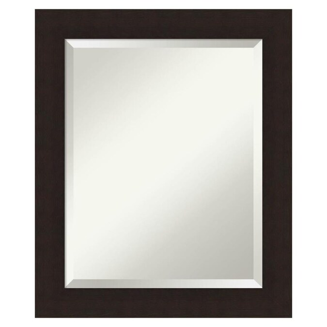 Trendteam Smart Living Miami Bathroom Wall Mirror with Shelf Space Rauchsilber Smoked Silver Finish 72 x 57 x 17 cm