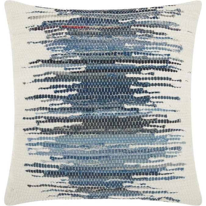Mina Victory Lifestyles 20 In X 20 In Blue 100 Cotton Square Indoor Decorative Pillow In The Throw Pillows Department At Lowes Com