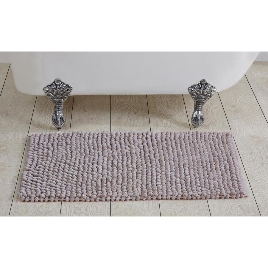 Better Trends Chenille Rocks Bath Rug 36 In X 24 In Linen Cotton Bath Rug In The Bathroom Rugs Mats Department At Lowes Com