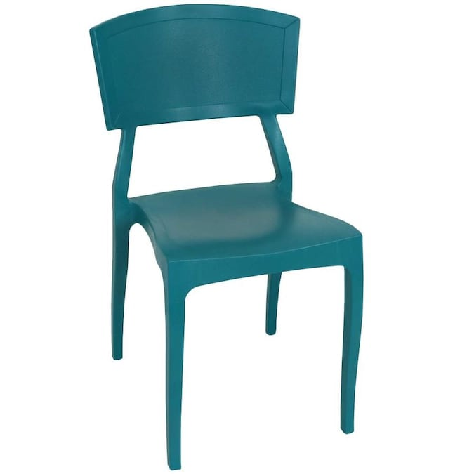 Sunnydaze Decor Stackable Green Plastic Frame Stationary Dining Chair S With Solid Seat In The Patio Chairs Department At Lowes Com