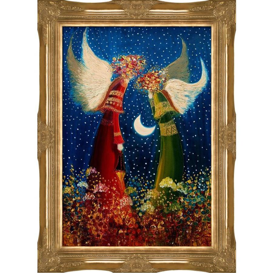 Artistbe Artistbe By Overstockart Angels By Justyna Kopania With Gold Victorian Frame Canvas Wall Art 44 In X 32 In In The Wall Art Department At Lowes Com