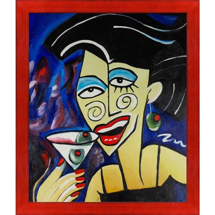 Artistbe Artistbe By Overstockart Picasso By Nora One More Drink With Stiletto Red Frame Canvas Print 27 5 In X 23 5 In In The Wall Art Department At Lowes Com