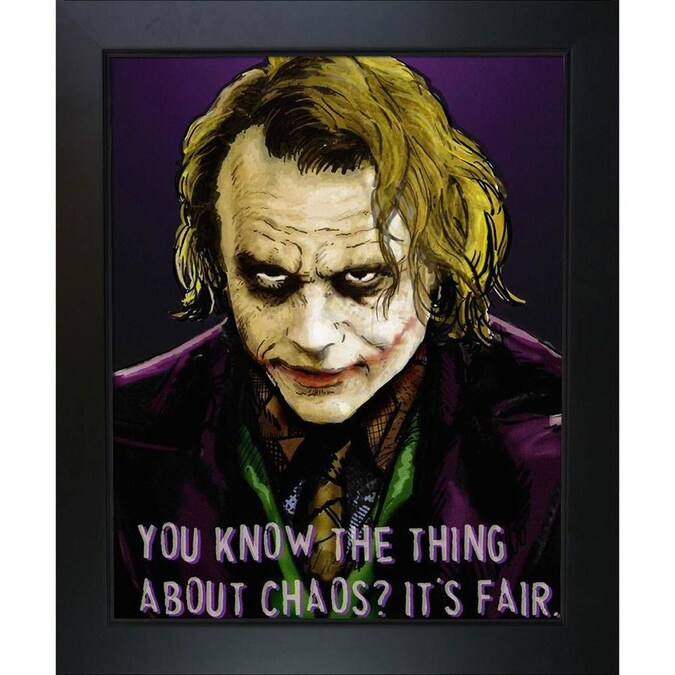 Artistbe Artistbe By Overstockart The Joker By Dan Avenell With New Age Black Frame Canvas Wall Art 24 75 In X 20 75 In In The Wall Art Department At Lowes Com
