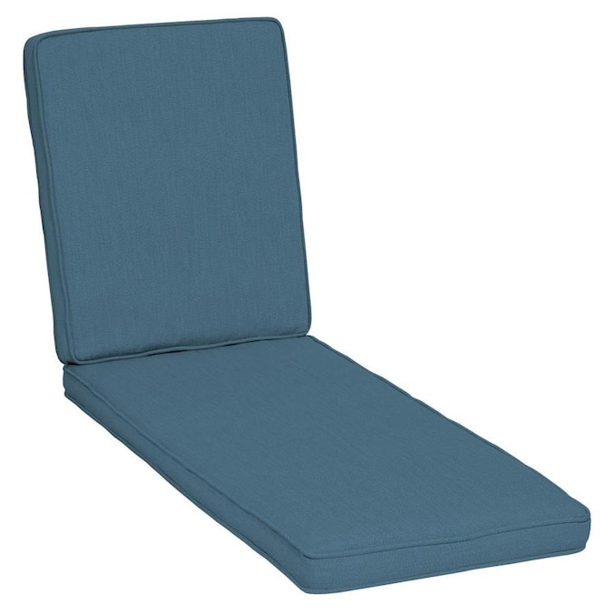 arden selections oasis chambray blue patio chaise lounge chair cushion