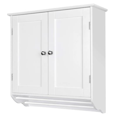 Veikous 24 4 In W X 23 6 In H X 8 6 In D White Bathroom Wall Cabinet In The Bathroom Wall Cabinets Department At Lowes Com