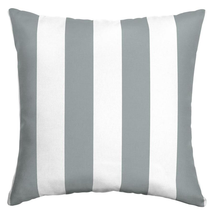 Arden Selections Striped Stone Cabana Stripe Square Throw Pillow In The Outdoor Decorative Pillows Department At Lowes Com