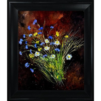 Artistbe Artistbe By Overstockart Bunch Of Wild Flowers By Pol Ledent With Black Satin King Frame Canvas Wall Art 31 In X 27 In In The Wall Art Department At Lowes Com