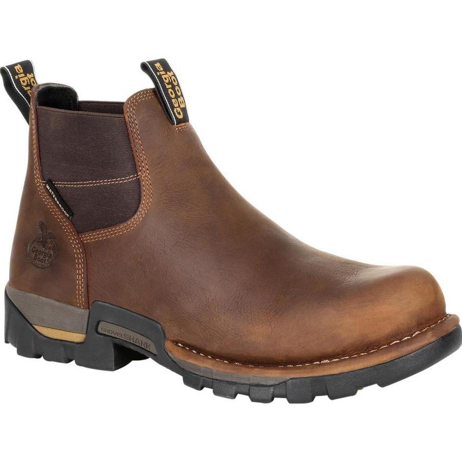 Wide Mens Brown Waterproof Steel Toe