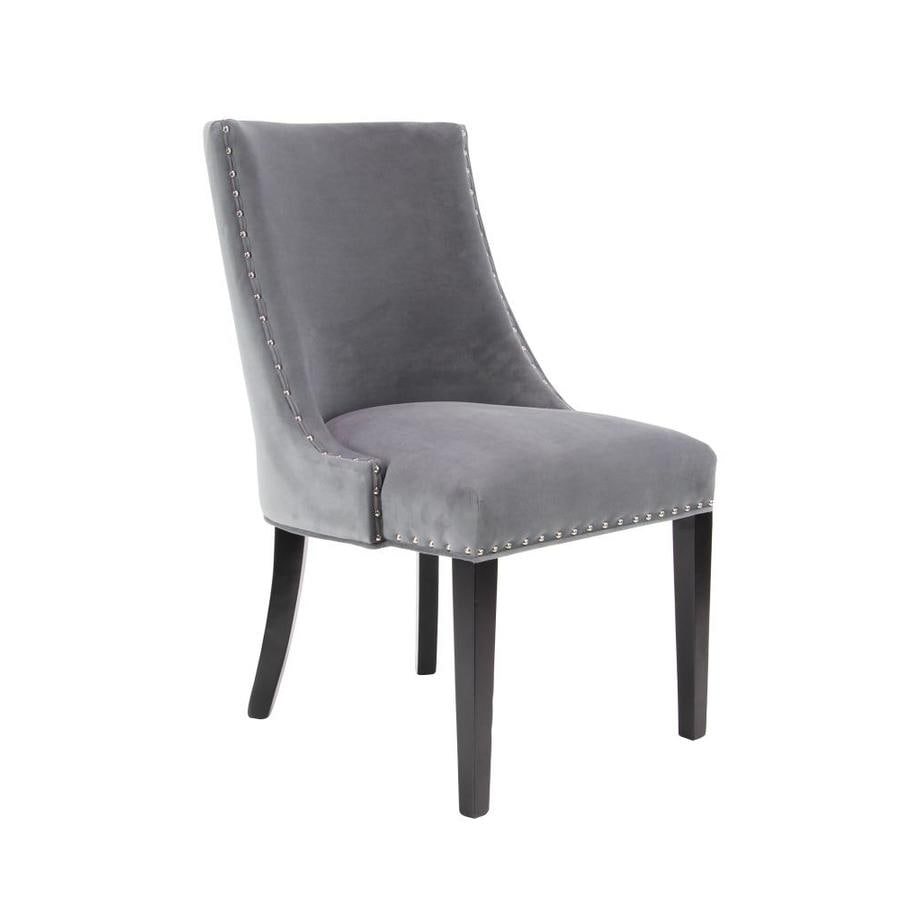 Grayson Lane Modern Grey Slipper Chair In The Chairs Department At Lowes Com