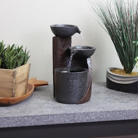 Style Selections Blue Tabletop Ceramic Fountain In The Indoor Fountains Department At Lowes Com