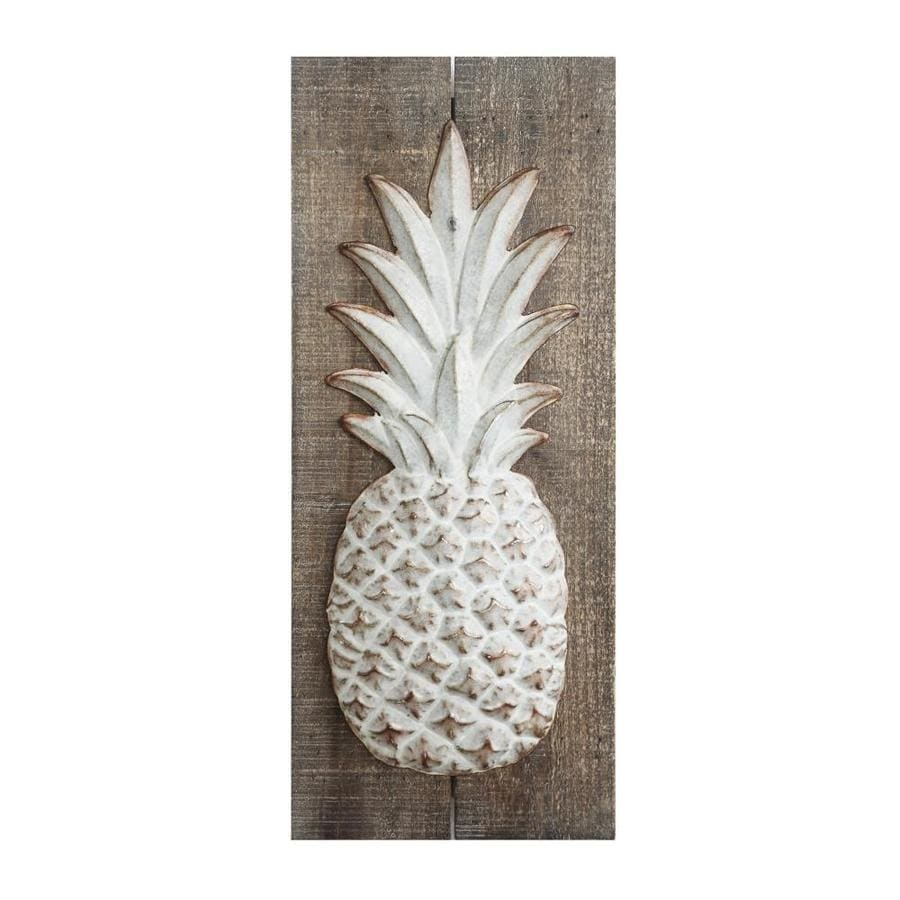 Creative Co Op Wood and Embossed Metal Pineapple Wall DEcor in the ...