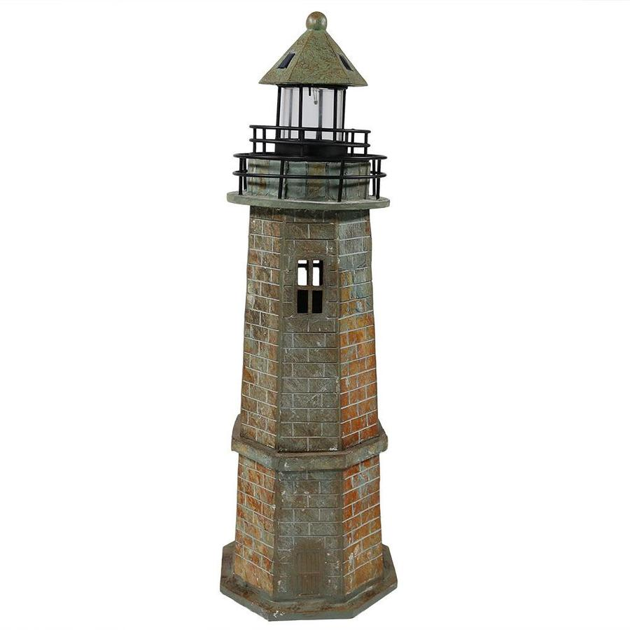 Sunnydaze Decor 10-in H x 10-in W Brown Lighthouse Garden Statue