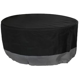 Rust Oleum Neverwet 38 In Black Round Firepit Cover In The Fire Pit Covers Department At Lowes Com