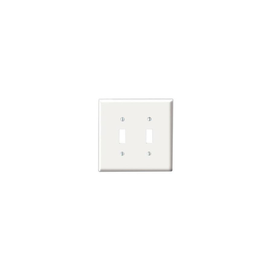 2 Gang Toggle Device Switch Wall Plate White In The Endless Aisle Department At Lowes Com