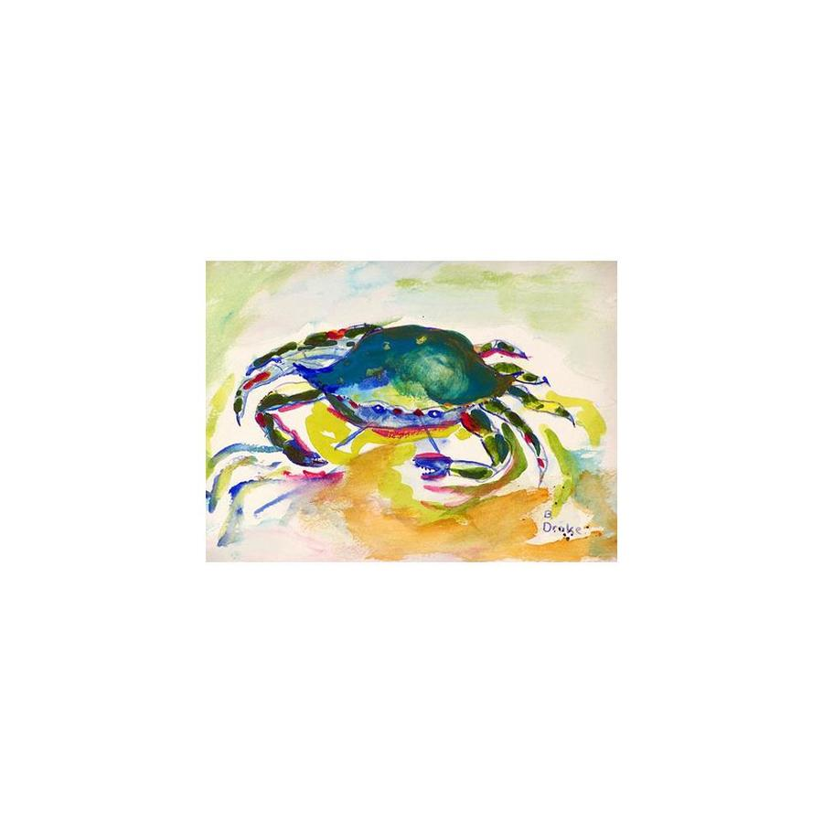 Betsy Drake Interiors Betsy Drake Pm263 Green Crab Place Mat Set Of 4 In The Endless Aisle Department At Lowes Com