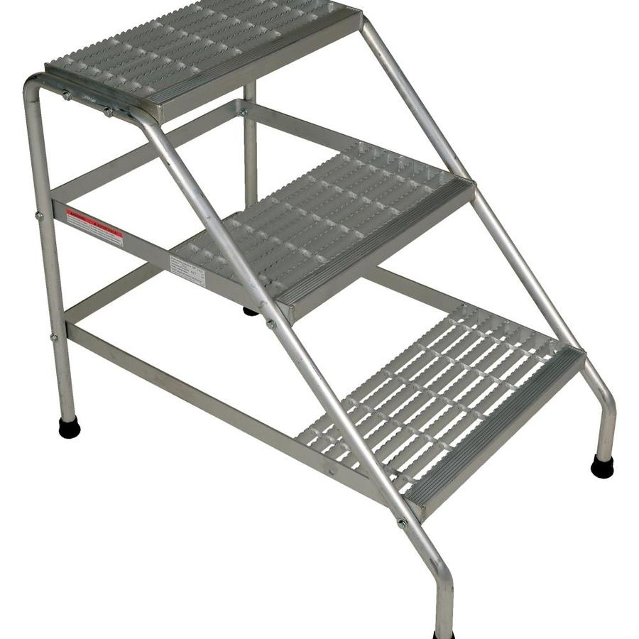 Vestil Vestil Manufacturing Ssa 3 Kd Y Aluminium Knock Down 3 Step Stand Yellow In The Shop Equipment Department At Lowes Com