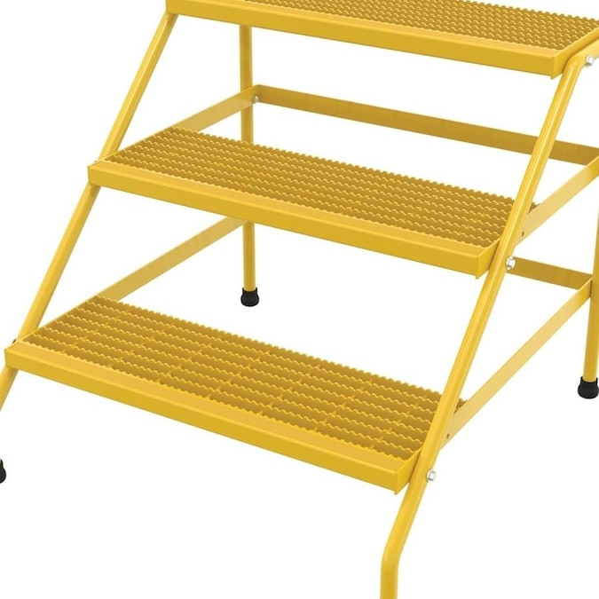 Vestil Vestil Manufacturing Ssa 3w Kd Y Aluminium Knock Down Wide 3 Step Stand Yellow In The Shop Equipment Department At Lowes Com