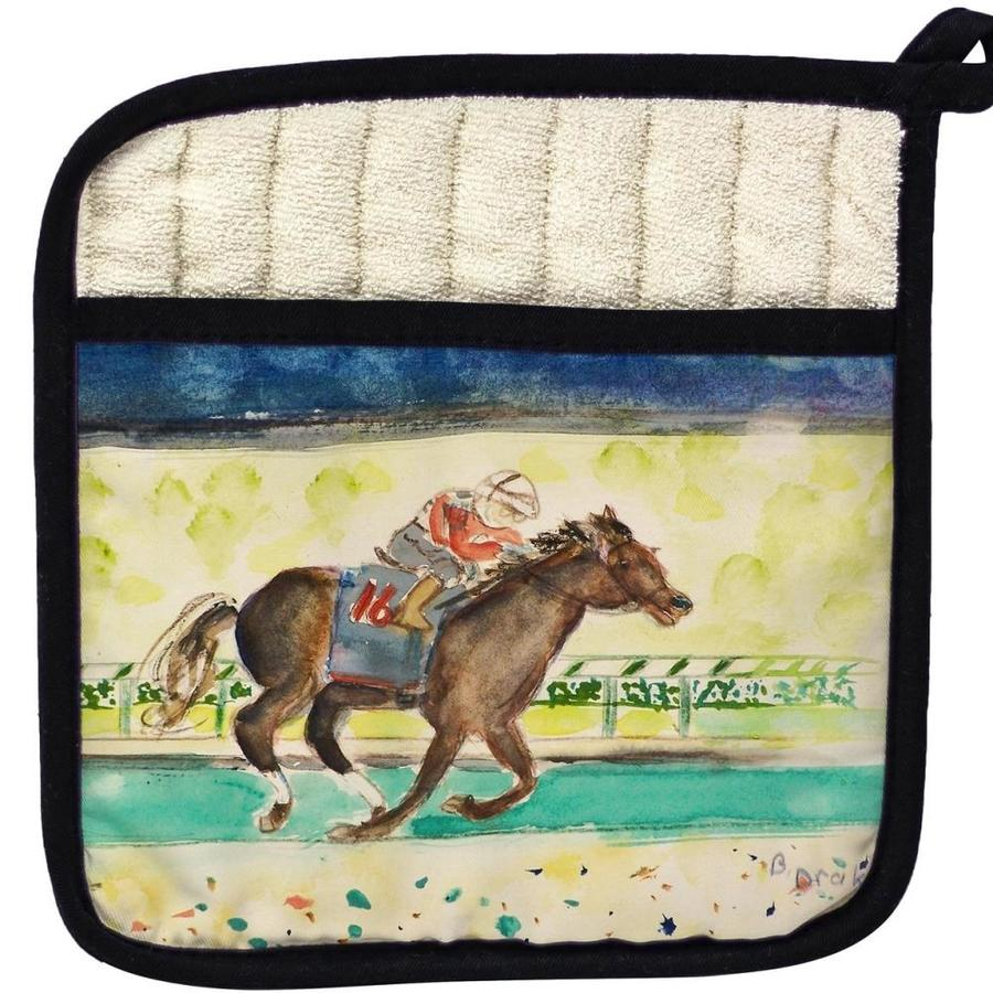 Betsy Drake Interiors Betsy Drake Pt109 Derby Winner Pot Holder In The Endless Aisle Department At Lowes Com