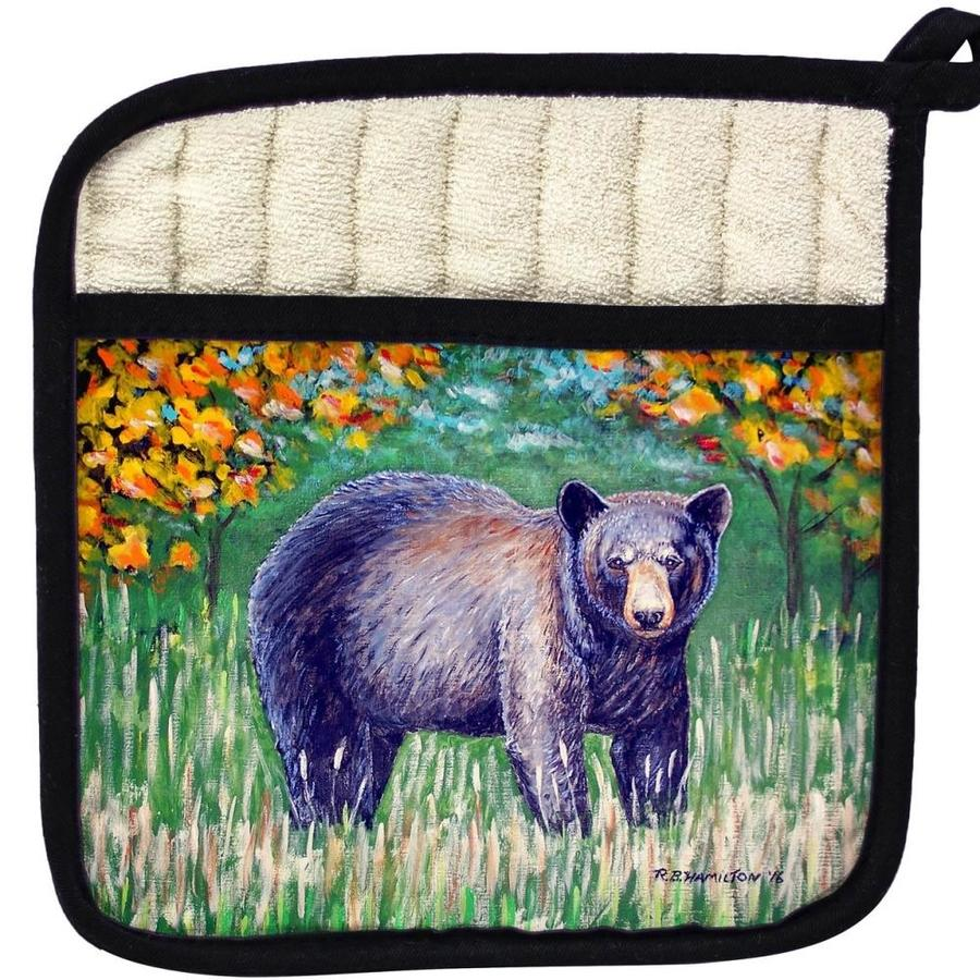Betsy Drake Interiors Betsy Drake Pt536 Black Bear Pot Holder In The Kitchen Tools Department At Lowes Com