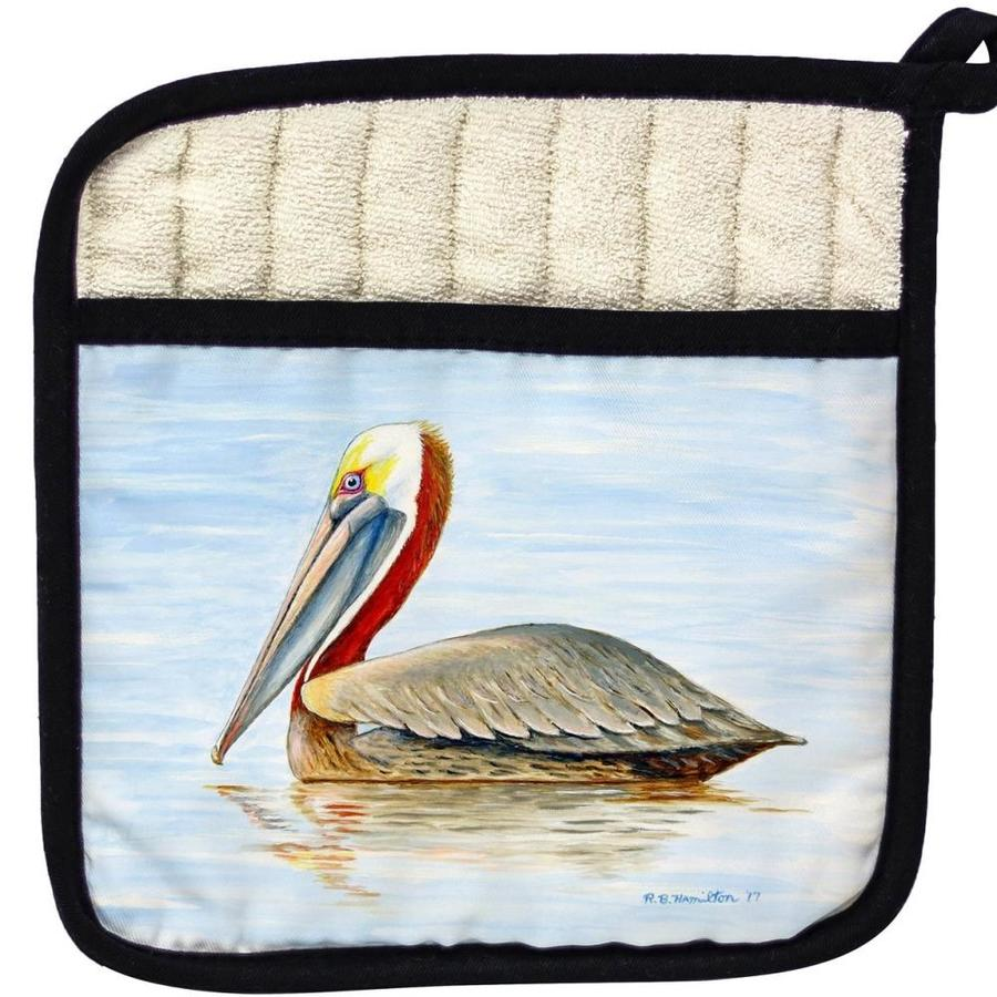 Betsy Drake Interiors Betsy Drake Pt807 Summer Pelican Pot Holder In The Kitchen Tools Department At Lowes Com