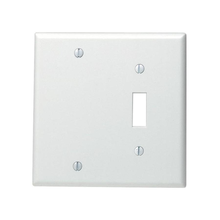 White Single Gang Toggle And Blank Wallplate In The Endless Aisle Department At Lowes Com