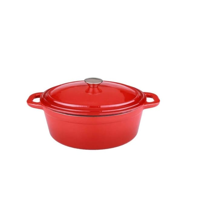 Berghoff Berghoff 2211278a 8 Qt Neo Cast Iron Oval Cov Casserole Red In The Endless Aisle Department At Lowes Com