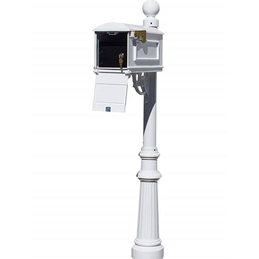 Qualarc Qualarc Lml 701 Wht Lewiston Equine Mailbox Post System With Locking Insert Ornate Base And Horsehead Finial White In The Endless Aisle Department At Lowes Com