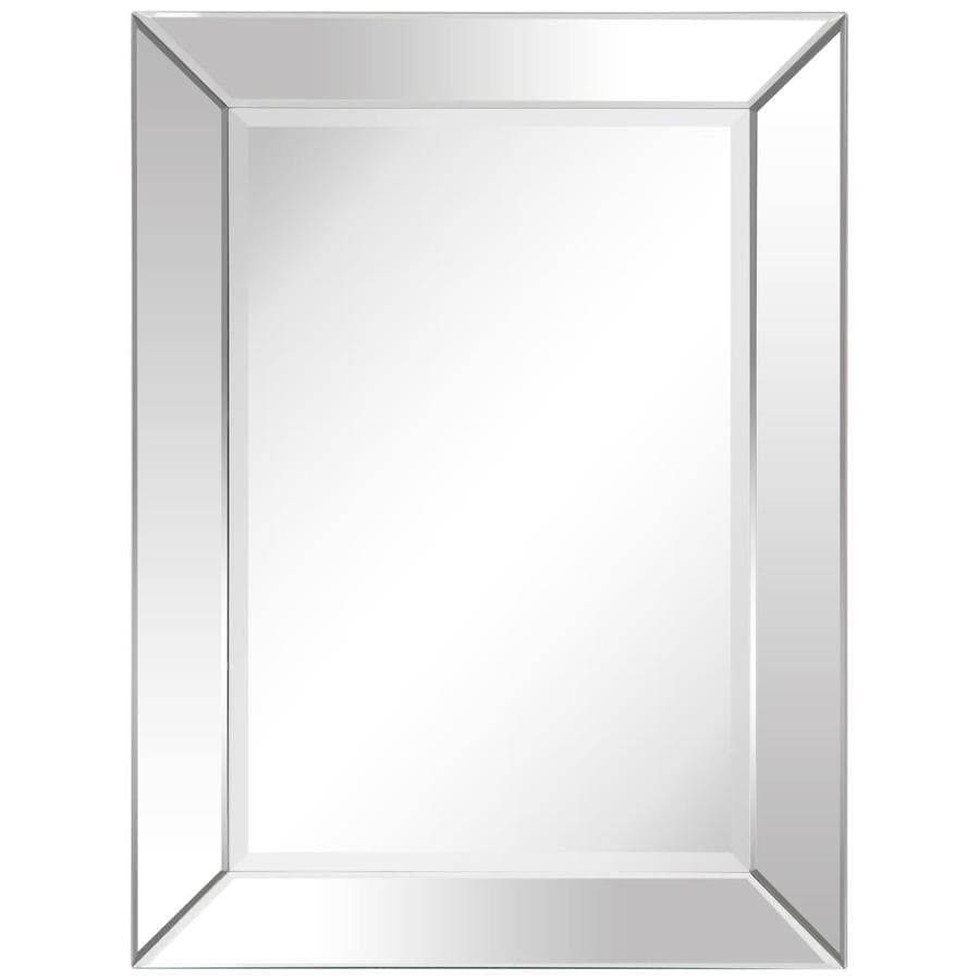 Empire Art Direct Wall Mirror 30 In L X 40 In W Clear Beveled Wall Mirror In The Mirrors Department At Lowes Com