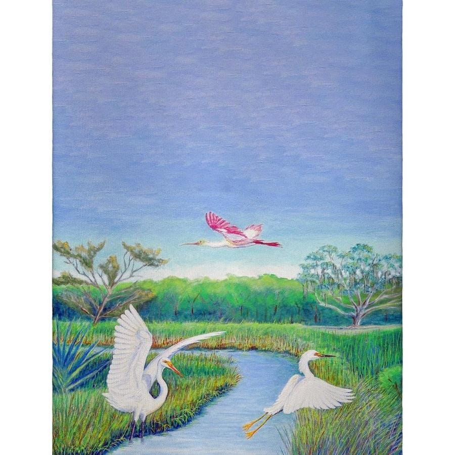 Betsy Drake Interiors Betsy Drake Gt1105 Marsh Wings Guest Towel In The Endless Aisle Department At Lowes Com