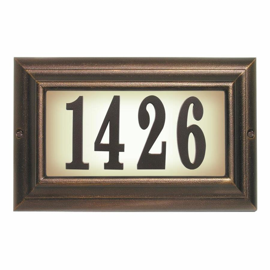 Qualarc Qualarc Ltl 1301 Ac 15 In Edgewood Large Lighted Address Plaque In Antique Copper Frame Color In The Endless Aisle Department At Lowes Com