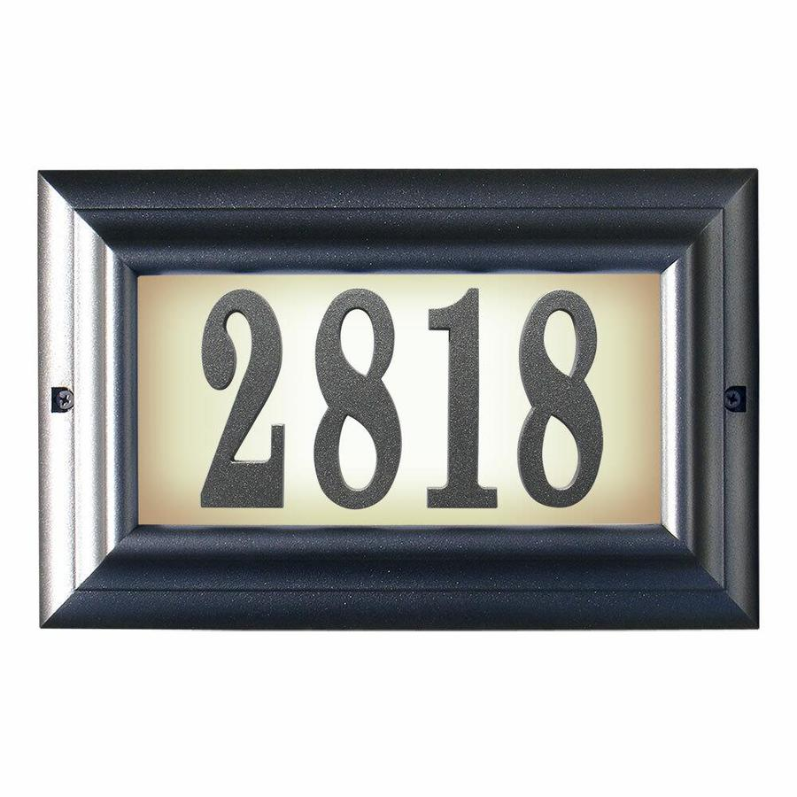Qualarc Qualarc Ltl 1301 Pw 15 In Edgewood Large Lighted Address Plaque In Pewter Frame Color In The Endless Aisle Department At Lowes Com
