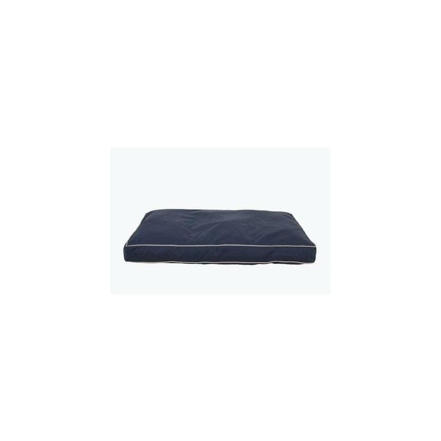 Carolina Pet Company Carolina Pet 012200 F Classic Canvas Rectangle Orthopedic Foam Jamison Pet Bed Blue With Khaki Cord Large In The Endless Aisle Department At Lowes Com