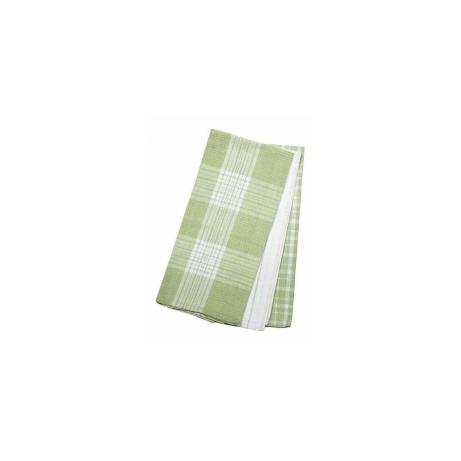 Mr Mjs Mr Mjs Trading Ag 34605 3 Piece Tea Towels Set Green Plaid In The Endless Aisle Department At Lowes Com