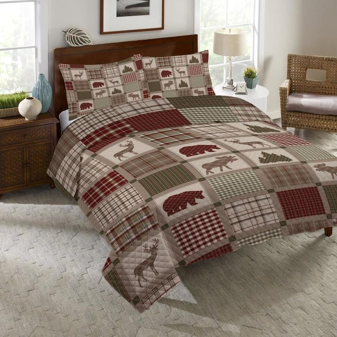 Laural Home Quilt Set 3 Piece Multicolor Cotton King Quilt Set In The Bedding Sets Department At Lowes Com