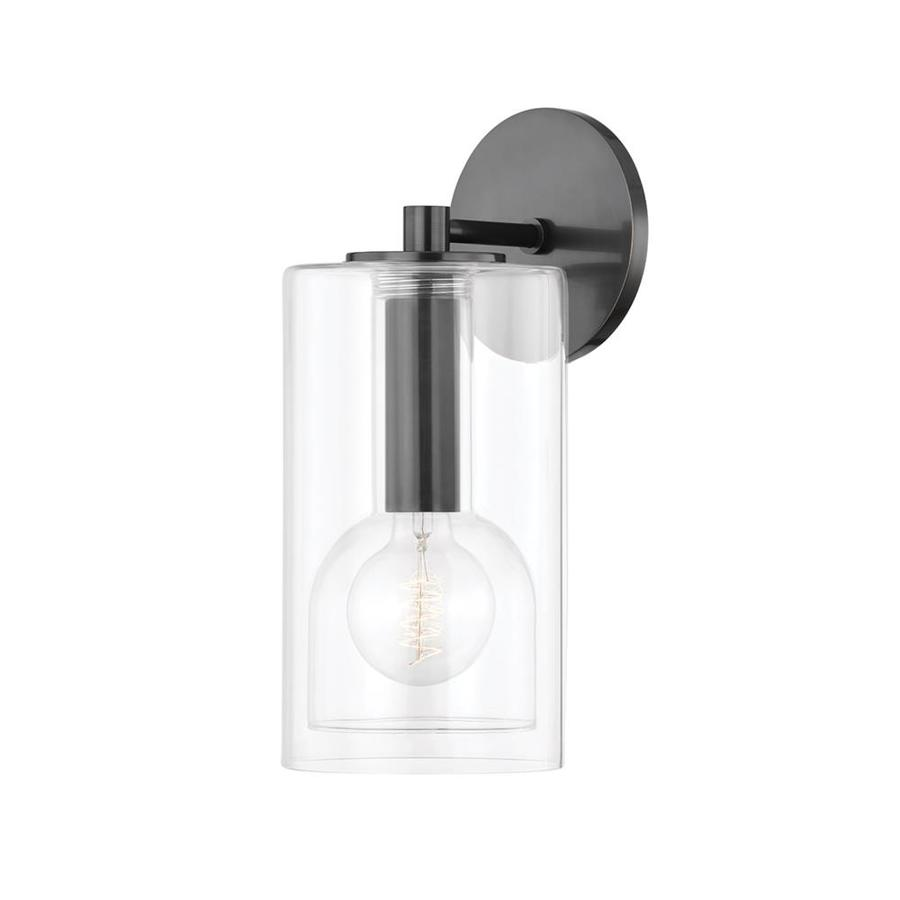 Mitzi By Hudson Valley Lighting Belinda 1 Light 14 In Wall Sconce Old Bronze Clear Glass In The Wall Sconces Department At Lowes Com