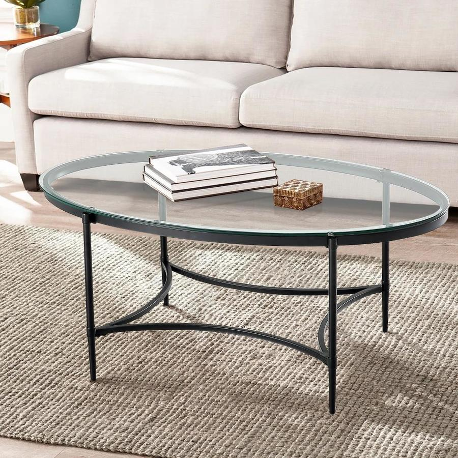 Casainc Clear Glass Round End Table Glass Coffee Table In The Coffee Tables Department At Lowes Com