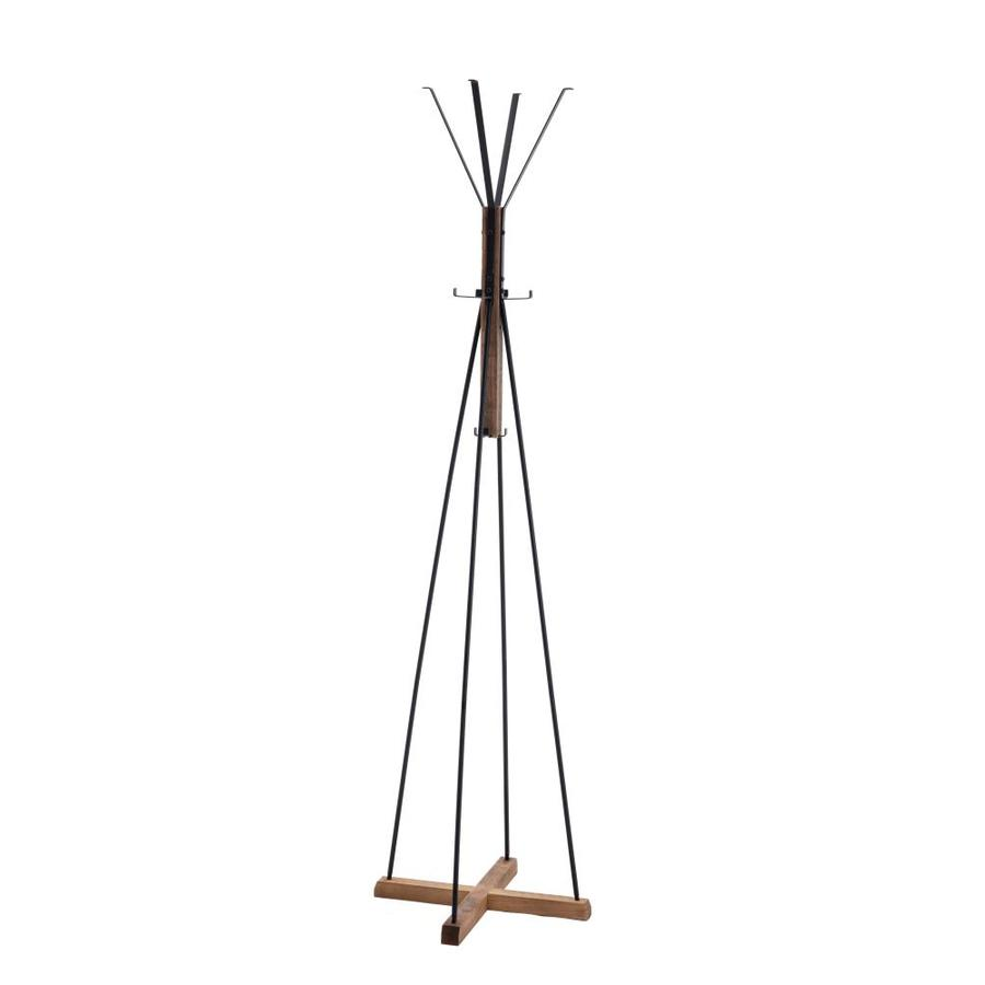 Jervis 8 Hook Standing Coat Rack In Natural Reclaimed Wood And Metal In The Coat Racks Stands Department At Lowes Com