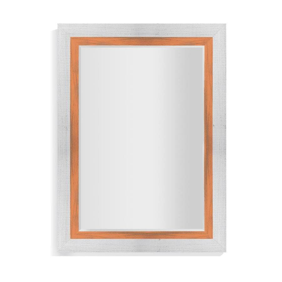 La Pastiche Appalachian 44 In L X 32 In W Orange Framed Wall Mirror In The Mirrors Department At Lowes Com
