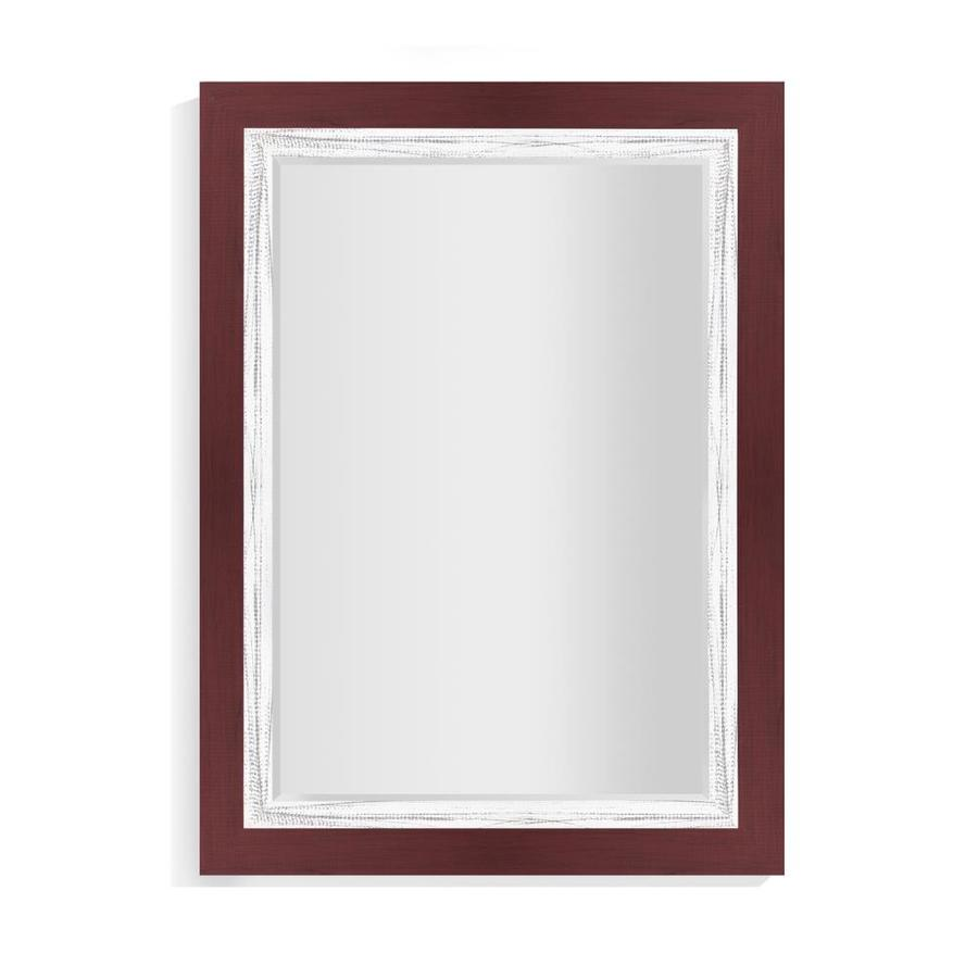 La Pastiche Appalachian 44 In L X 32 In W Crimson Framed Wall Mirror In The Mirrors Department At Lowes Com