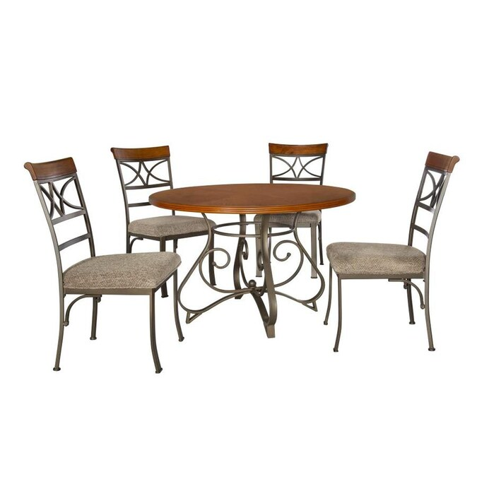 Powell Hamilton Dining Room Set With Round Table In The Dining Room Sets Department At Lowes Com
