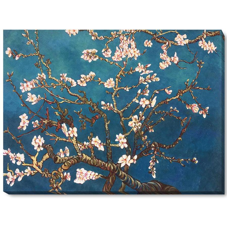 La Pastiche La Pastiche By Overstockart Branches Of An Almond Tree In Blossom By Vincent Van Gogh Gallery Wrapped Canvas Oil Painting Reproduction Wall Art 46 In X 34 In In The Wall Art